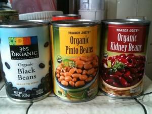 ビーンズ缶詰(キドニー、ピント、ブラック)