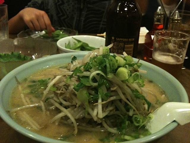 ニラもやしラーメン(味噌味)   Ramen Nippon