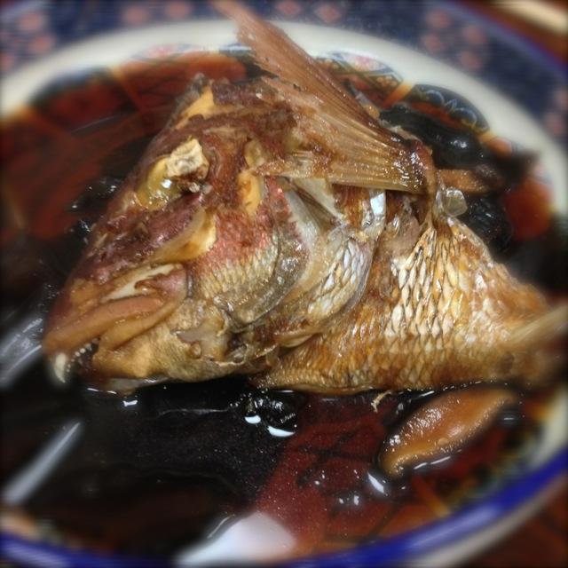 真鯛のカマの煮付け