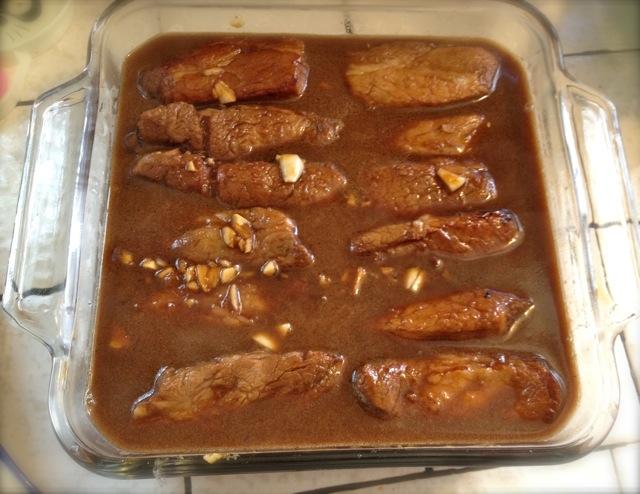 おっさんの〜Braised sweet pork belly 2