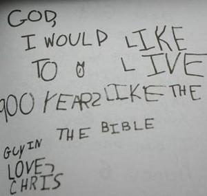 神様への手紙