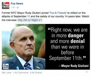 9.11.2015 ジュリアーニ 元NY市長の言葉
