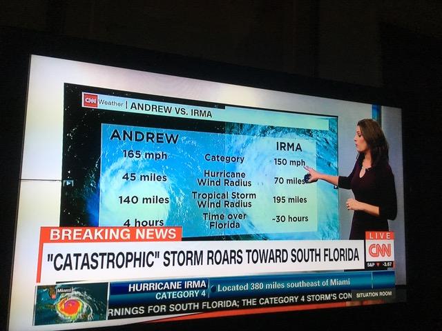 ハリケーン・イルマ(Irma)の勢力が弱まりますように・・