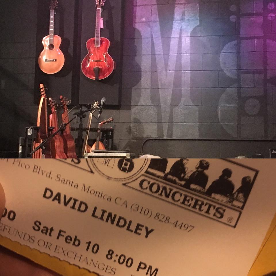 デヴィッド・リンドレー・ライブ at McCabe's Guitar Shop_2018