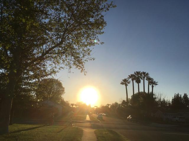 サンフェルナンドバレーの夕日