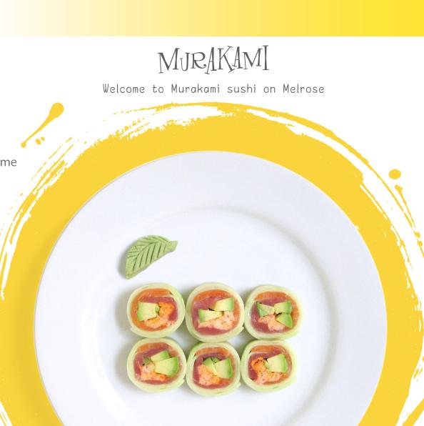 """メルローズでスシボール """"Murakami Sushi"""""""