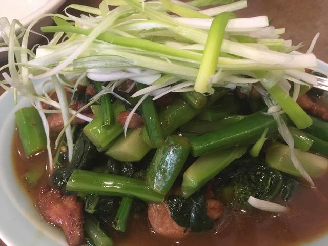 チャイニーズブロッコリーと豚肉炒め